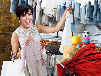 Kris Jenner Spends Over $10k at Baby Boutique for Kim and Kanye's New Girl
