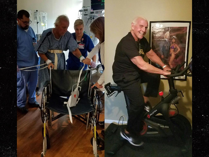 Ric Flair Barely Walking in Hospital Pic ... But I'm Back, Baby!!