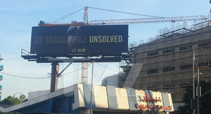 Notorious B.I.G. Billboard Up At Murder Scene