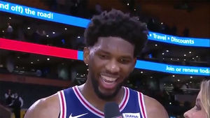 Joel Embiid SHUTS DOWN Rihanna on TV