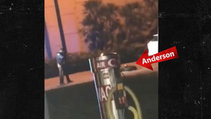 Anderson was arrested at gunpoint, as captured on video by a witness.