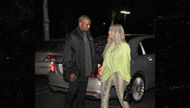 Kanye West and Kim Kardashian Take in a Movie After the Birth of Chicago