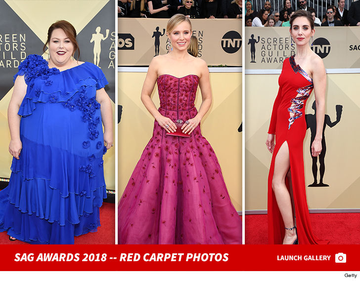 Early Arrivals For The Th Annual Sag Awards Were Quite Telling Cause A Lot Of The Women Appear To Have Abandoned The Blackout For Times Up