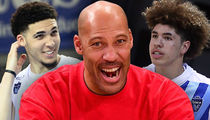 LaMelo and LiAngelo Ball Combine for 80 Points in LaVar's Pro Coaching Debut