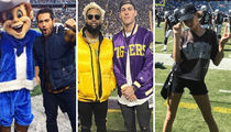 Stars on the Sidelines Features Famous Football Fanatics