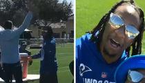 Todd Gurley Hits Water Cooler Flip Challenge, Players Go Crazy