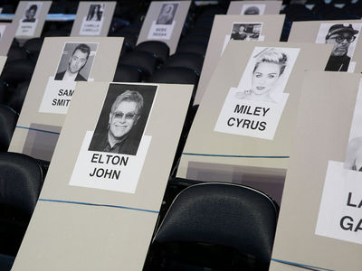 Grammys Seating Chart's Got Elton, Lady Gaga, Tony Bennett and Miley Clustered Together