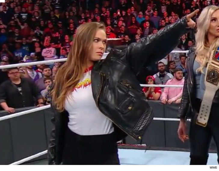 Ronda Rousey talks moments after the WWE Royal Rumble