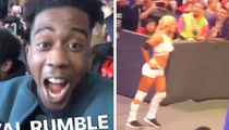 Desiigner Hyped AF at the Royal Rumble, Hollas at WWE's Torrie Wilson!