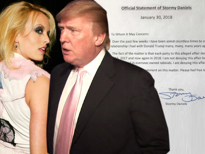 Stormy Daniels Issues New Trump Denial, Says 'Affair Never Happened' (UPDATE)