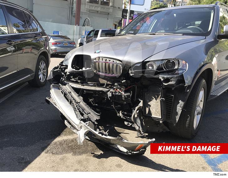 Jimmy Kimmel Gets In Sunset Strip Car Wreck No Injuries