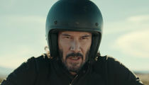 Keanu Reeves Busts Terrifying Motorcycle Stunt for Super Bowl Commercial