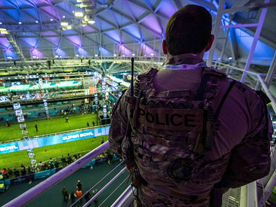 Super Bowl LII's High Security Includes Bulletproof Vests & Humvees