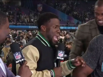 Kevin Hart Wasted Drunk at Super Bowl, Kicked Off NFL Network