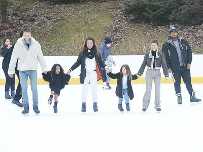 Kourtney Kardashian, Penelope and North West Hit up Central Park Ice Rink