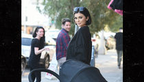 Kylie Jenner Is a Waxy Lady with a Baby, Fooling Hollywood Tourists