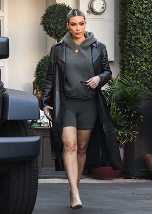 Kim Kardashian Steppin' Out In Spandex