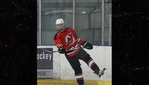 Justin Bieber Leaves Hockey Game in Baller Lambo