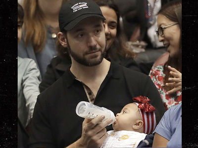 Serena's Hubby On Baby Duty at Fed Cup, Mommy Back to Work
