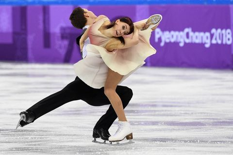 Ekaterina Bobrova and Dmitri Soloviev of Olympic Athlete from Russia