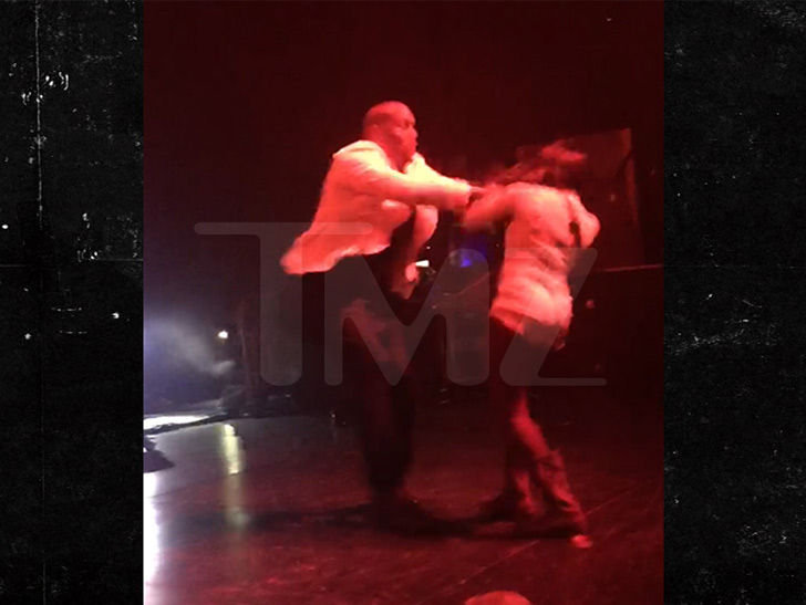 Tyrese Gets a Scare Onstage, Shoves Female Fan