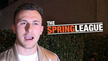 Johnny Manziel Signs Football Contract w/ Spring League