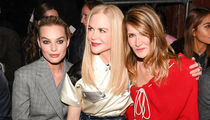 Margot Robbie Spotted at NYFW with Nicole Kidman and Laura Dern