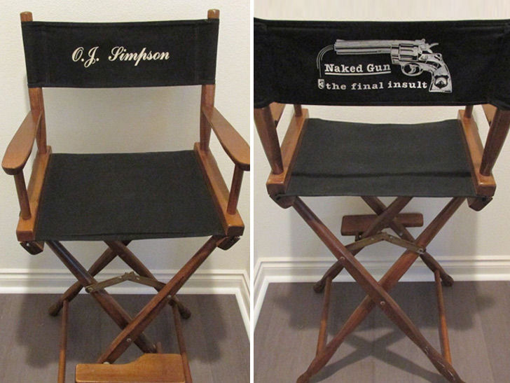 O.J. Simpson's 'Naked Gun' Set Chair Hits Auction Block