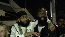 Nipsey Hussle Bro's Down w/ James Harden, You're an L.A. Legend!