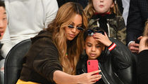 Beyonce & Blue Ivy Snapping Selfies at NBA All-Star Game