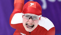 Funny Faces of Olympic Speed Skating ... Zoom Through These Silly Snaps!