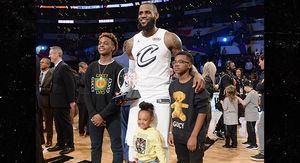 LeBron James' Kids Fitted in Over $3k of Gucci Merch at All-Star Game