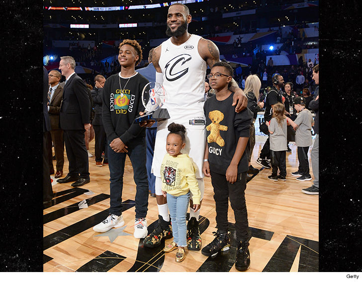 LeBron James' Kids Fitted in Over $3k of Gucci Merch at ...