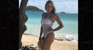Bill Belichick's GF Flaunts Beach Bod in Fishnet Bathing Suit