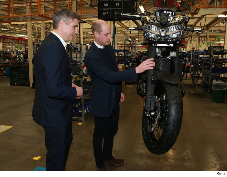 Prince William Visits Triumph to Stand By and Around Motorcycles