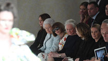 Queen Elizabeth Sits Front Row Next to Anna Wintour for London Fashion Week Show