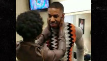 Lupita Nyong'o & Michael B. Jordan Getting Physical, Flirtatious