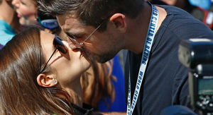 Danica Patrick's good luck kiss from Aaron Rodgers backfired