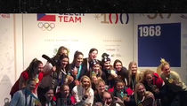 U.S. Womens Hockey Team Parties After Victory, Gold Medals and Beers!!