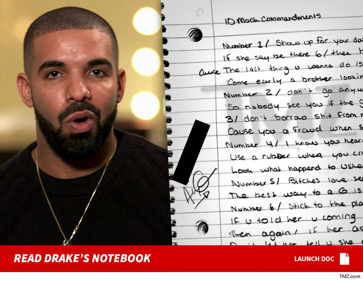 Image result for Drake's Handwritten Lyrics and Notes from 'Degrassi' Days For Sale For $54k