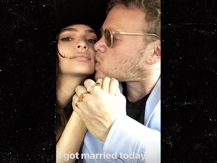 Emily Ratajkowski Just Got Married Wearing A Zara Pantsuit