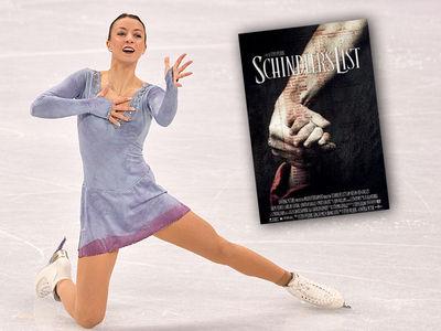 German Figure Skater Nicole Schott Performs to 'Schindler's List' Score at Winter Olympics