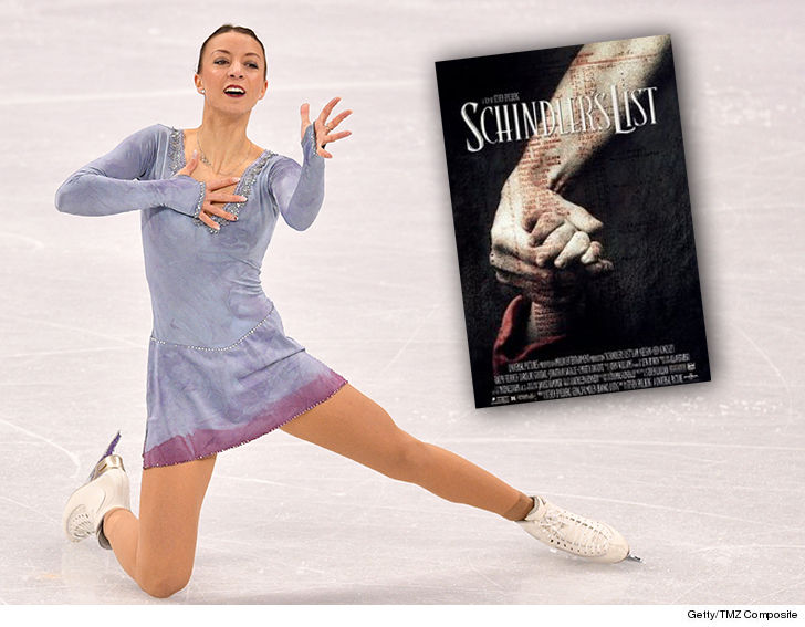 German figure skater performs to 'Schindler's list, receives flak