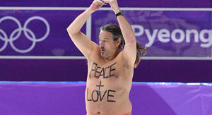 Olympics Invaded By Fat Streaker with Monkey…