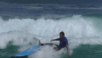 Joe Jonas Struggles to Ride Waves at Australia's Bondi Beach