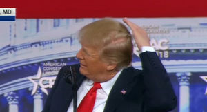 Trump Makes Fun of the Bald Spot on His Head During CPAC Speech
