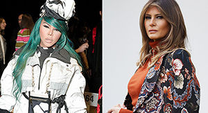 Lil Kim Looks So Much Like Melania Trump It's Unsettling — & She Knows It