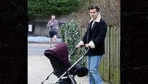 Harry Styles Smitten with Baby as He Pushes Stroller Around