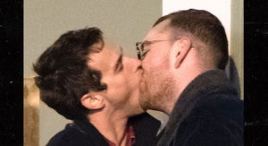 Sam Smith Goes in for Heavy Make Out with Boyfriend Brandon Flynn in London