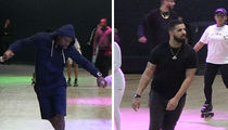 Drake Hits Floyd Mayweather's Roller Skating Party, Skates to Own Music